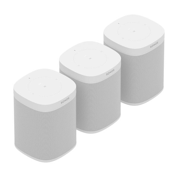 Speaker-Set für drei Räume mit dem Sonos One weiß