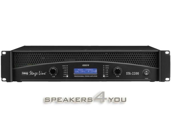 STA-2200 Professioneller Stereo-PA-Verstärker mit integrierter Frequenzweiche und Limiter