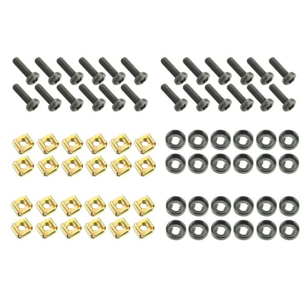 24er Set Schrauben M6 x 20 mm mit Käfigmutter und Unterlegscheibe