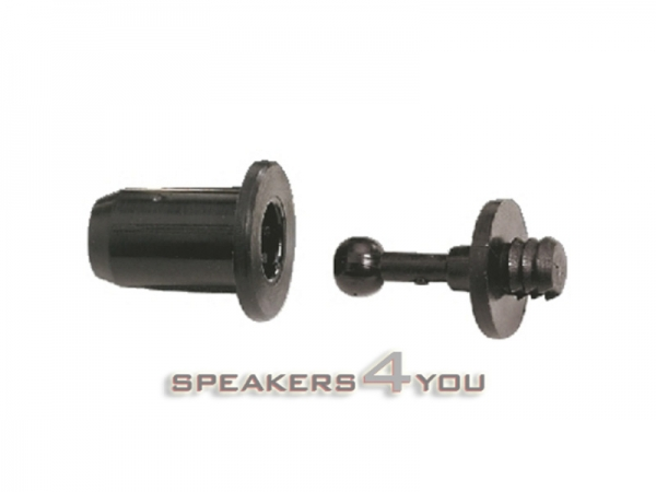 Lautsprecher-Rahmendübel-Set, kleine Ausführung, 8 Dübel und 8 Buchsen