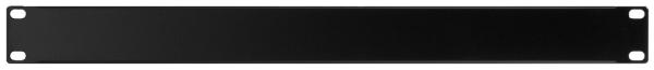Rackblende schwarz, 482 mm / 19 Zoll, eine Höheneinheit (1HE)