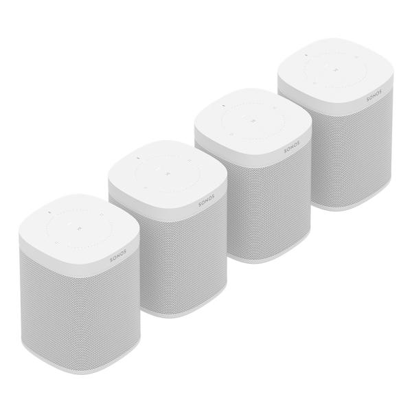Speaker-Set für vier Räume mit dem Sonos One weiß