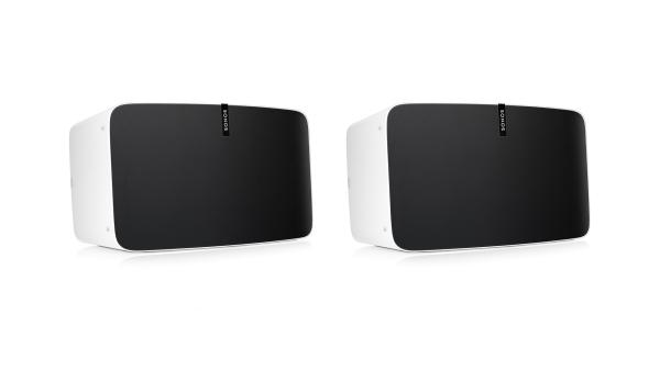 Sonos PLAY:5 (Generation 2) Smart Speaker mit purem, lebendigem Sound und intelligent synchronisierten Mittel- und Hochtönern, 1 Paar