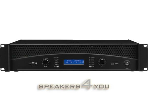 STA-1000 Professioneller Stereo-PA-Verstärker mit integrierter Frequenzweiche und Limiter