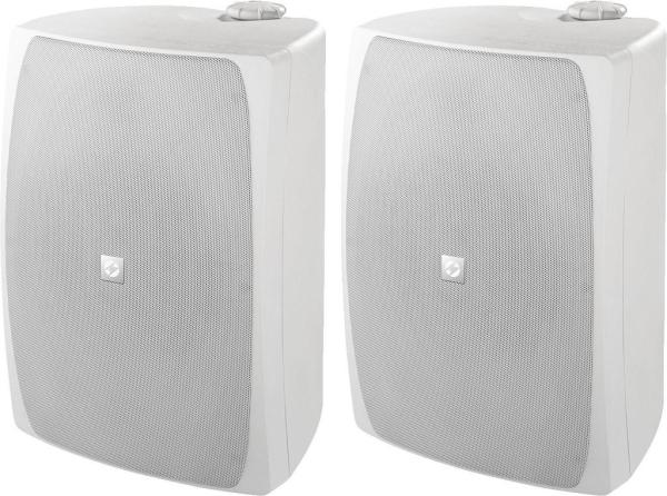MKS-8PRO Hochleistungs-Beschallungslautsprecher-Paar weiß, je Box 100 W