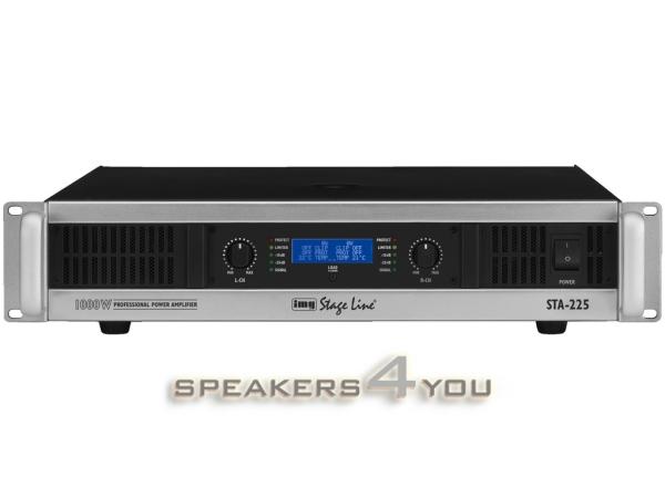 STA-250 Stereo-PA-Verstärker mit integrierter 2-Wege-Frequenzweiche und Limiter