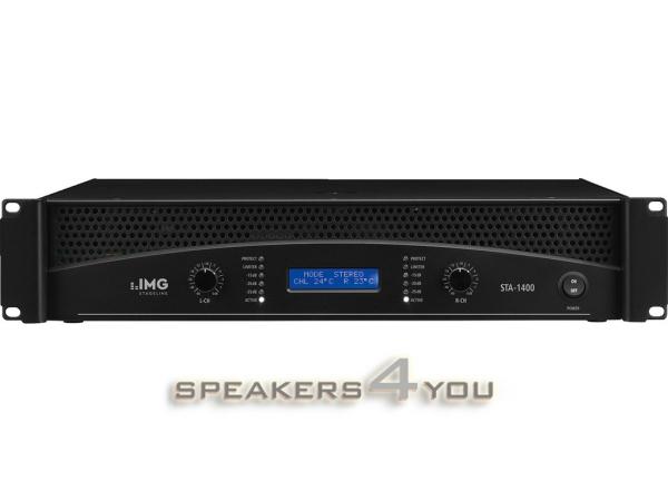 STA-1400 Professioneller Stereo-PA-Verstärker, integrierte Frequenzweiche & Limiter