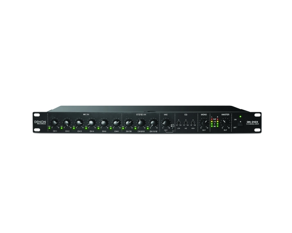"""Denon Professional DN-312X 12-Kanal 19"""" Rack Mischpult mit Mikrofon Prioritätsschaltung - Frontseite"""