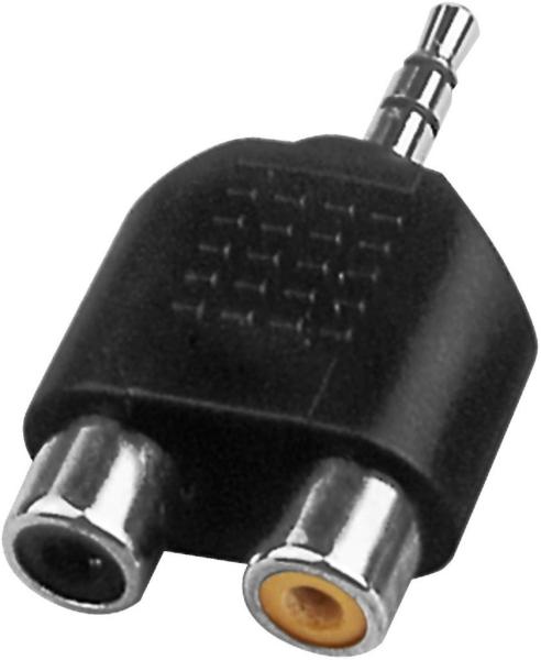 Cinch-Adapter NTA-105 mit 3,5mm Stereo-Klinke auf 2x Cinch
