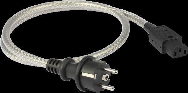 GOLDKABEL edition POWERCORD MKII Stromkabel mit geradem Schutzkontakt-Stecker 2,1m