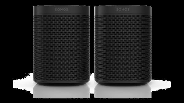 Sonos One Bundle schwarz - 2x Sonos One im Doppelpack