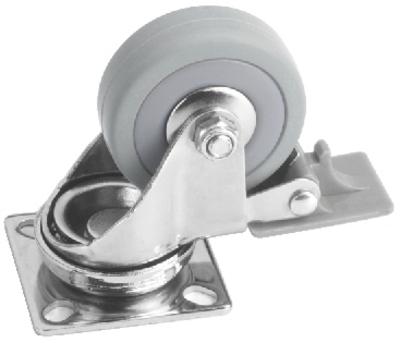 Lenkrolle mit Bremse 50mm