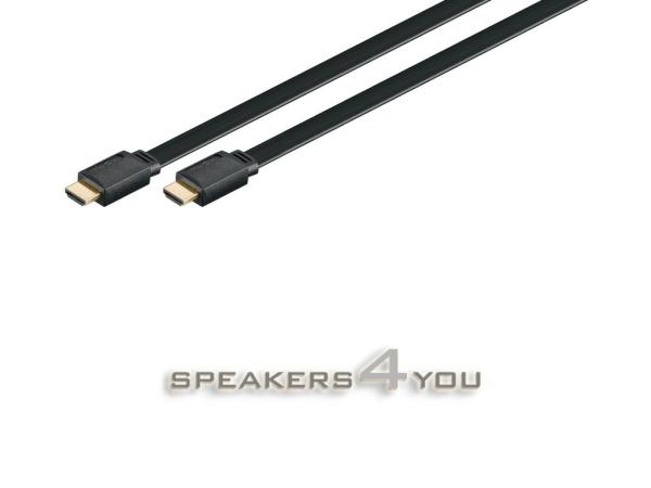 HDMI™-Verbindungsflachkabel (High Definition Multimedia Interface) zur hochauflösenden Übertragung von digitalen Video- und Audiodaten