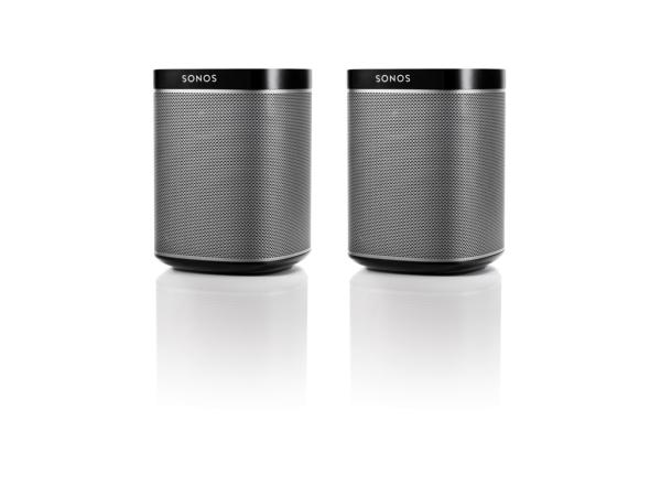 Sonos PLAY:1 schwarz, 1 Paar, der kompakte Wireless-Lautsprecher mit sattem, kristallklarem HiFi-Sound, tiefem Bass und jeder Menge Power