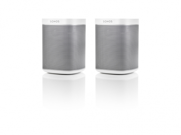 Sonos PLAY:1 weiß, 1 Paar, der kompakte Wireless-Lautsprecher mit sattem, kristallklarem HiFi-Sound, tiefem Bass und jeder Menge Power